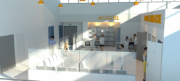 Accueil d'un centre de soins